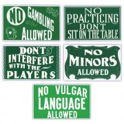 products/TWSG5P.jpg - Pool Hall Advisory Signs (Set Of Five)